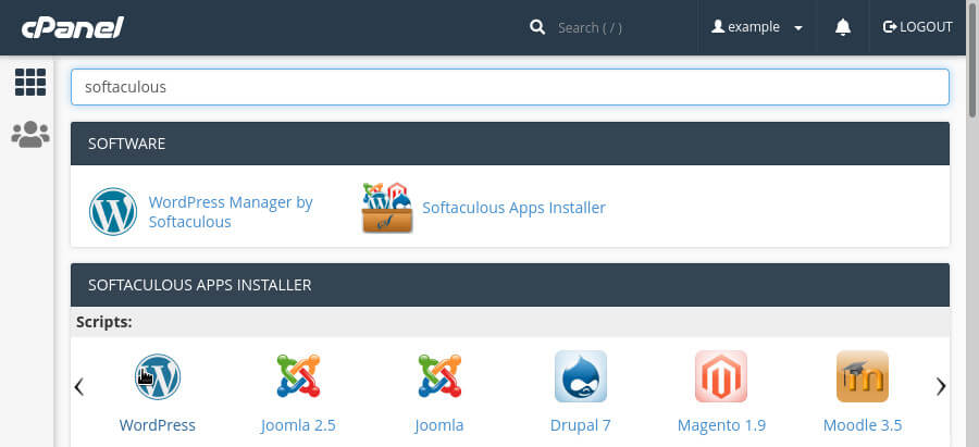 You can install WordPress via cPanel using 'Softaculous'.