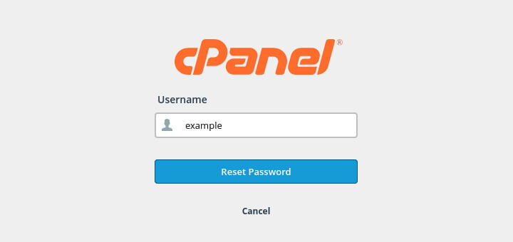 When you reset your cPanel password you first need to enter your cPanel username.